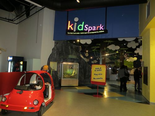 Hands-on Learning at the Ontario Science Centre - KidSpark play area for children 8 and younger