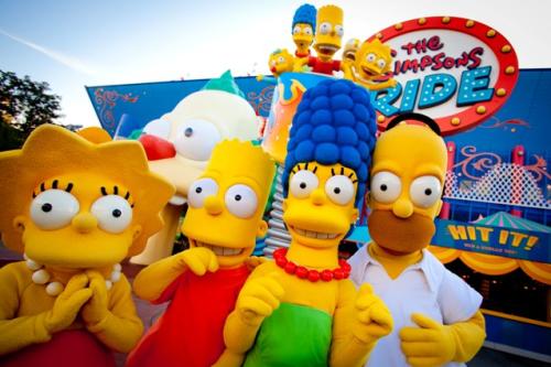 Simpsons ride Universal Studios Orlando
