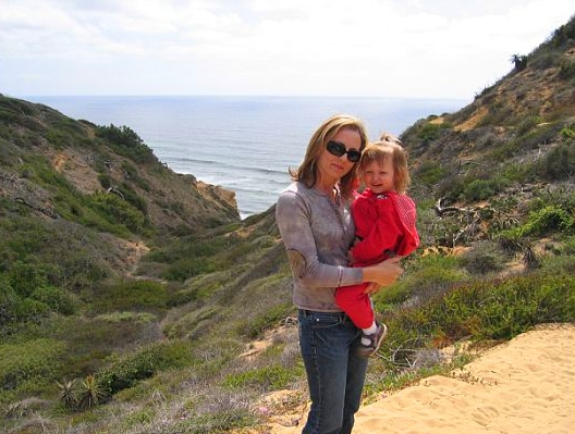 Hiking with my daughter at Torrey Pines State Reserve, La Jolla