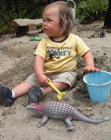 My son, Leo, digging for dinosaurs last year