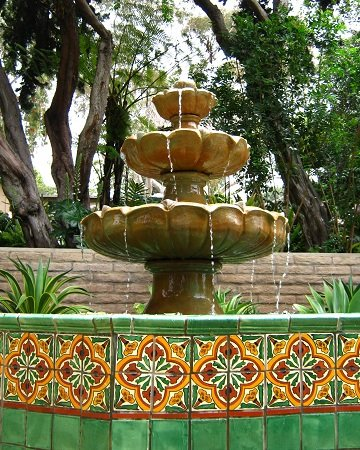 The fountain in the Mexican Garden
