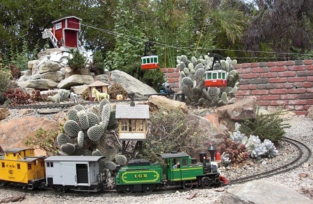 The  Seeds of Wonder Children's Garden miniature train is always a hit with kids