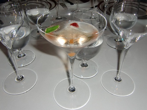 Collette Champagne cocktail at Disney Cruise Line's Remy restaurant