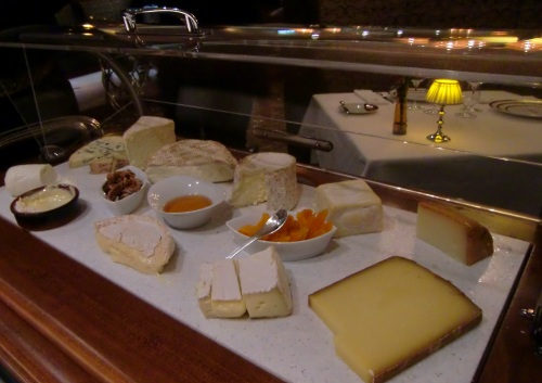 Choose as many varieties as you like from the cheese cart at Remy