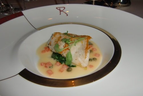 My favorite Remy dish, wild turbot with a light lemon-caper cream sauce