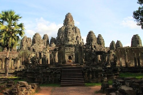 Bayon at Angkor Thom in Cambodia