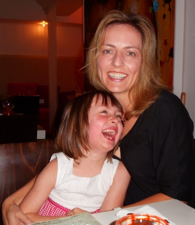 Travel Mama and daughter at Jam Restaurant in Puerto Rico