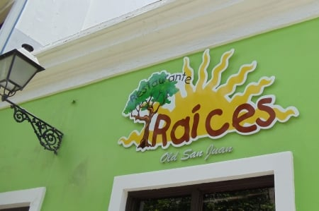 Raices Restaurant in San Juan (Photo credit: Colleen Lanin)