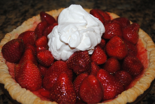 Strawberry pie made with Carlsbad strawberries