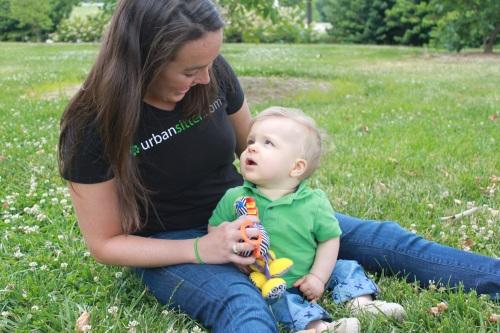 UrbanSitter babysitter and child