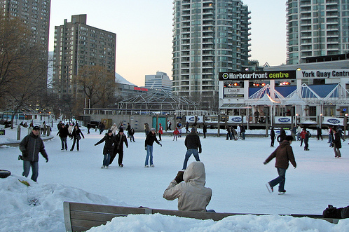 Valentine's Day activities in Toronto - ice skating at Harbourfront Centre