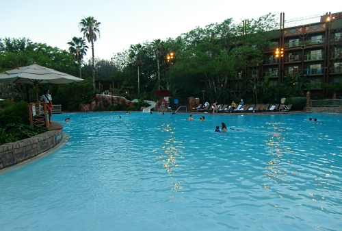 Animal Kingdom Lodge Villas pool with waterslide