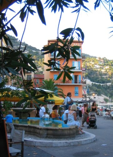 Fountain in Villefranche, France