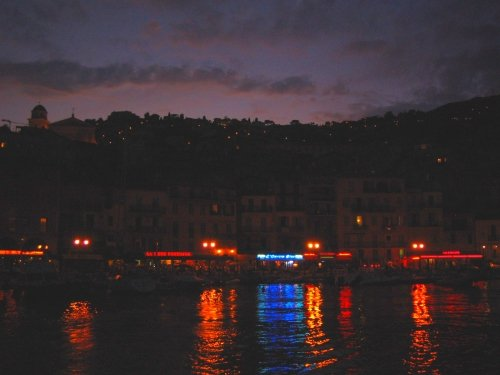 Villefranche, France at Night