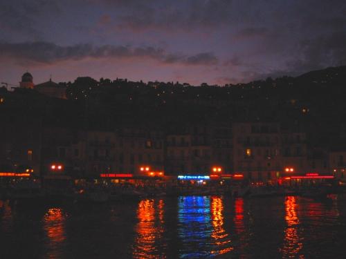 Villefranche, France at Night