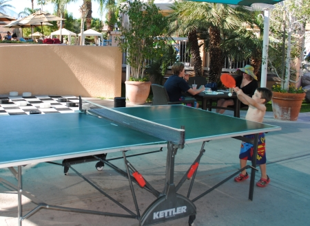 Westin Mission Hills ping pong by the pool