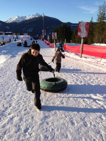 Skiing and Beyond with Kids in Whistler, British Columbia - Coca-Cola tubing hill