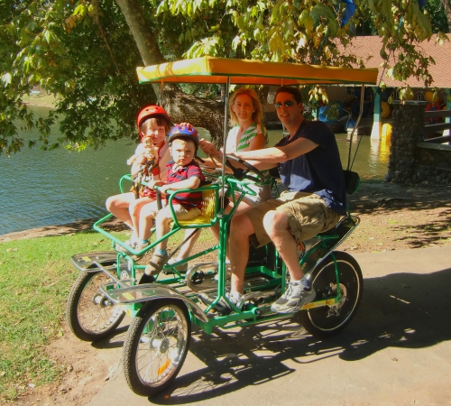 Family Surrey Ride at Irvine Regional Park