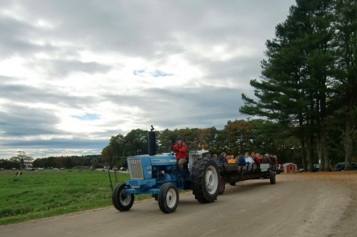 Tractor ride at Wolfe's Neck Farm in Freeport, Maine