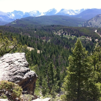 YMCA of the Rockies with kids - Estes Park Center view