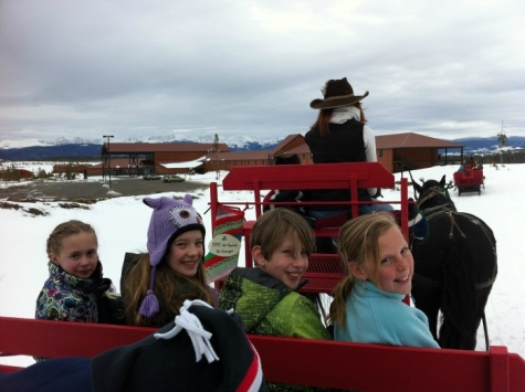 YMCA of the Rockies: Colorado's Most Affordable and Fun Vacation - sleigh ride with kids