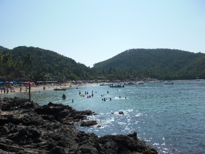 Lovely Las Gatas Beach in Zihuatanejo, Mexico