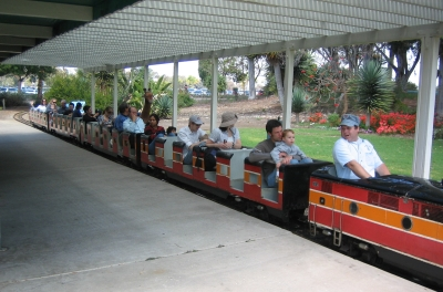 A ride aboard the Balboa Park Railroad Miniature Train is a fun way to top off a day at the San Diego Zoo