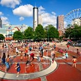 Children playing at Atlanta Centennial Olympic Park