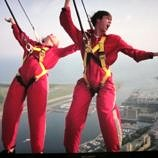 Teens tackling their fears on the CN Tower EdgeWalk Experience