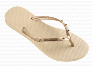 Slim Hardware Havaianas for women in Light Golden