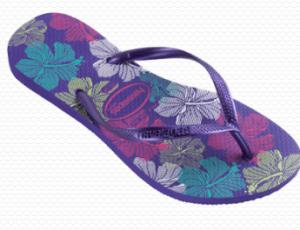 Havaianas Slim Allegra flip flop in Ice Violet