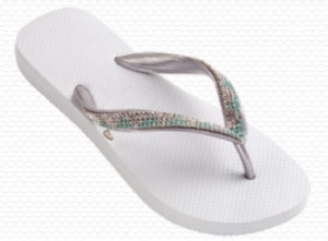 Sandal for brides with Swarovski crystals