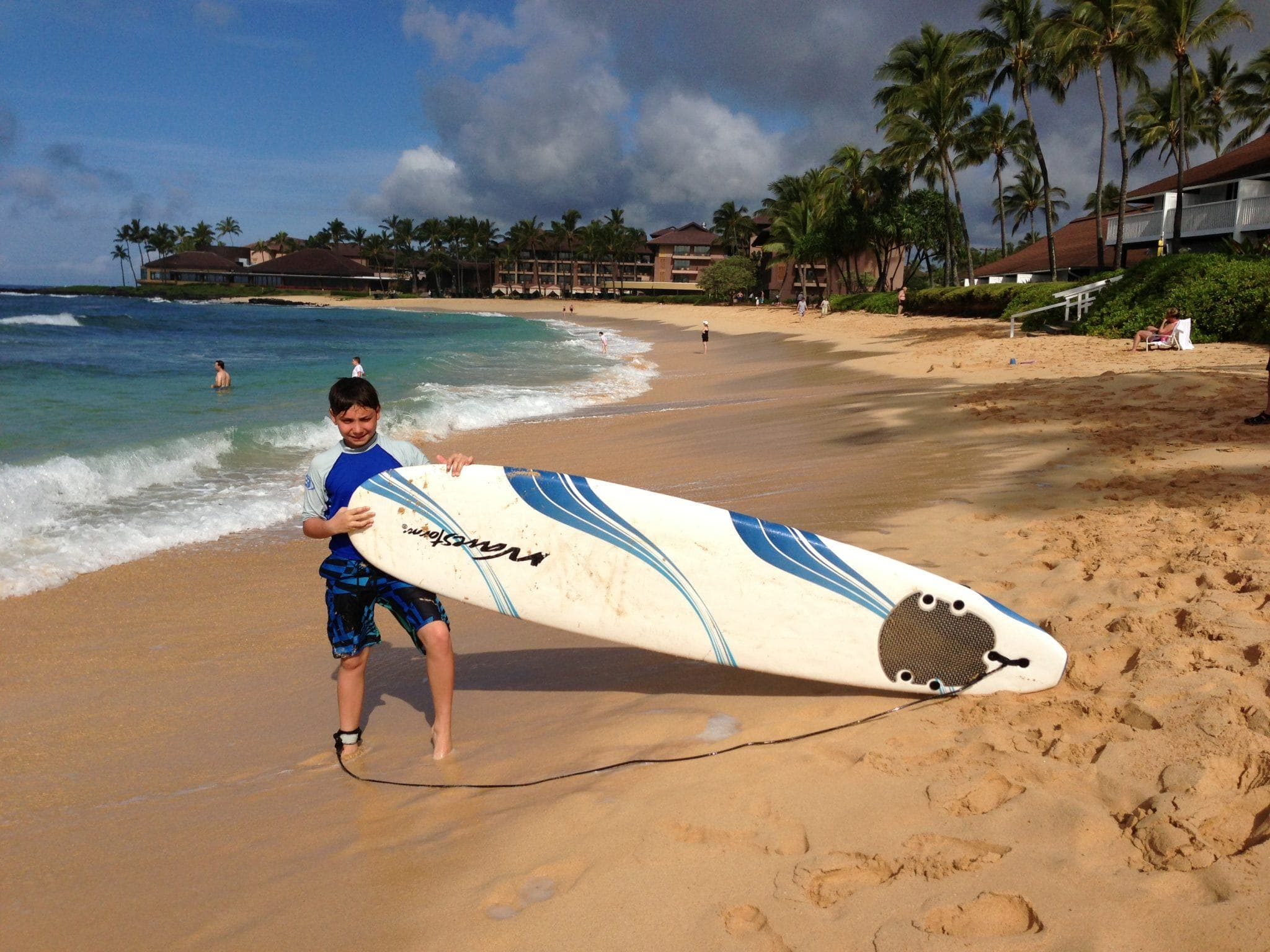 Learning to surf is hard work!