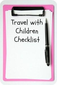 Travel with Children Checklist