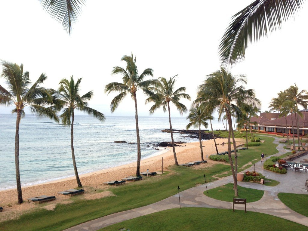 A beautiful oceanfront view of Poipu Beach