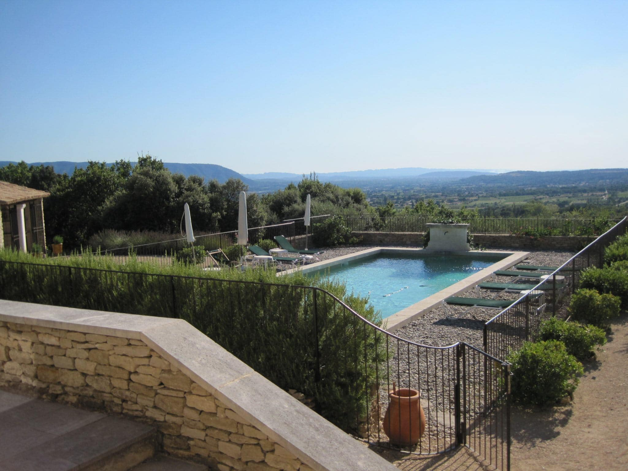 Backyard of villa in Gordes