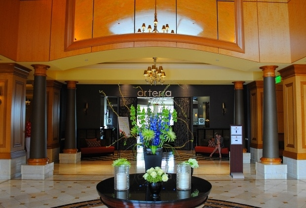 Flowers in the Marriott Del Mar Lobby