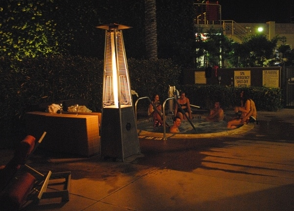 Hot-tubbing at the Marriott Del Mar