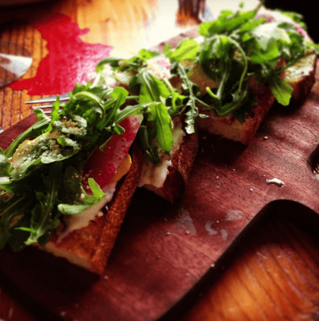 Bruschetta at Davanti Enoteca at the Del Mar Highlands
