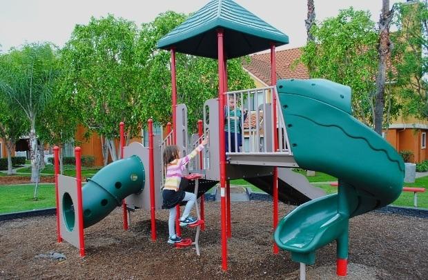 Onsite playground at Residence Inn Anaheim Maingate