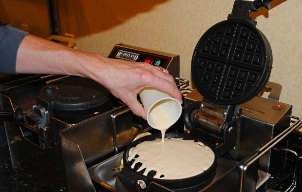Make-your-own waffles at Residence Inn Anaheim Maingate