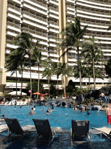 Kid-friendly Helumoa Playground pool at Sheraton Waikiki