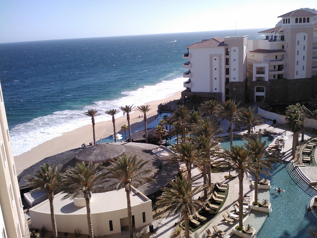 Grand Solmar ocean and pool view from a room's balcony