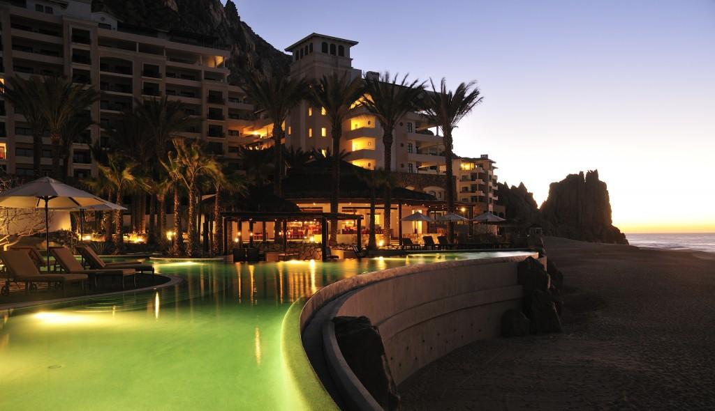 Grand Solmar pool overlooking the ocean in Los Cabos, Mexico