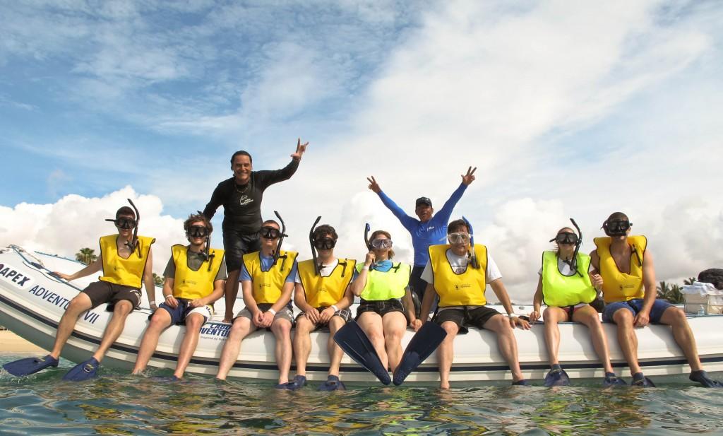 Snorkeling near El Arco de Cabo San Lucas. Photo Credit: Grand Solmar Land's End Resort & Spa