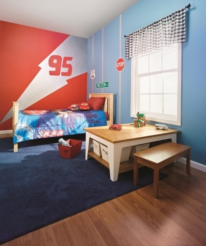 Cars room for little boy with Metallic Disney Paint