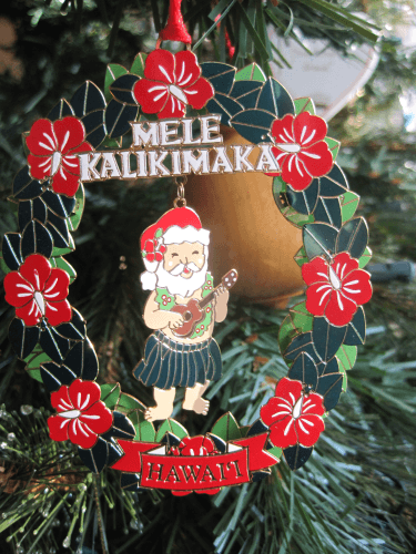 One of the ornaments collected during Lisa's travels