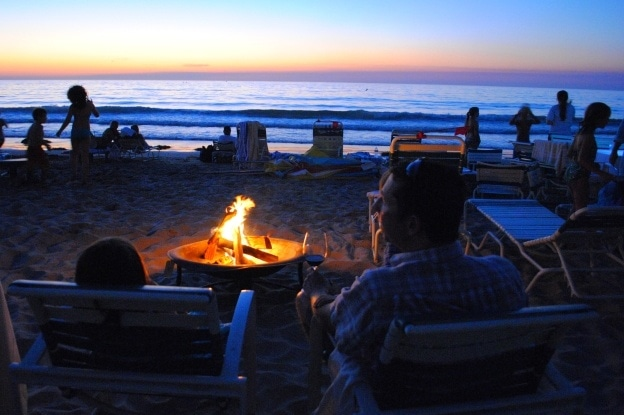 S'mores and a sunset at La Jolla Beach & Tennis Club