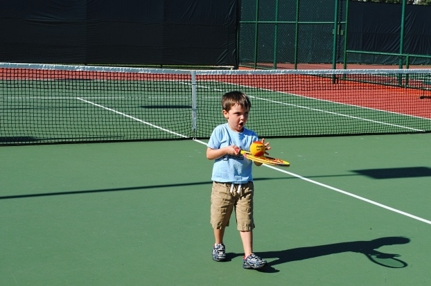 Family tennis lessons at La Jolla Beach & Tennis Club