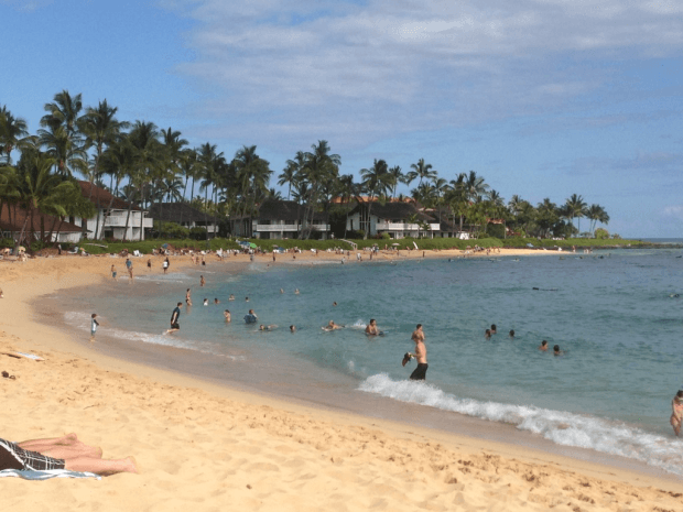 Sheraton Kauai's fabulous beach